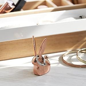 Bunny Anigram Ring Holder, Umbra, Copper