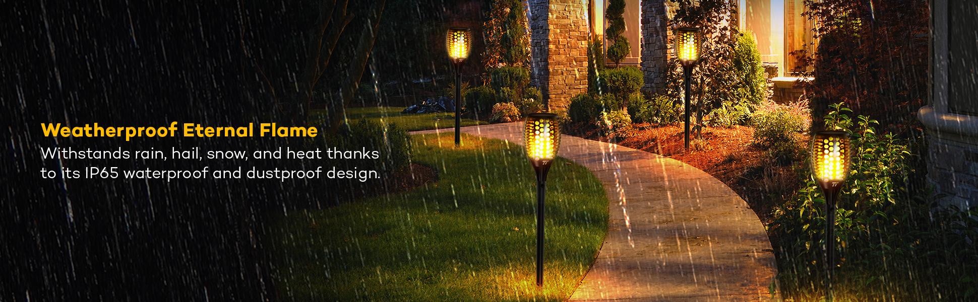 Read more & Amazon.com : Solar Garden Lights TaoTronics Solar Powered LED ... azcodes.com