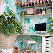 color theory, boho chic, creative work space