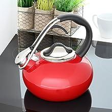 kettle tea coffee pot kitchen boiler water ergonomic design style moma kitchen whistle trigger craft