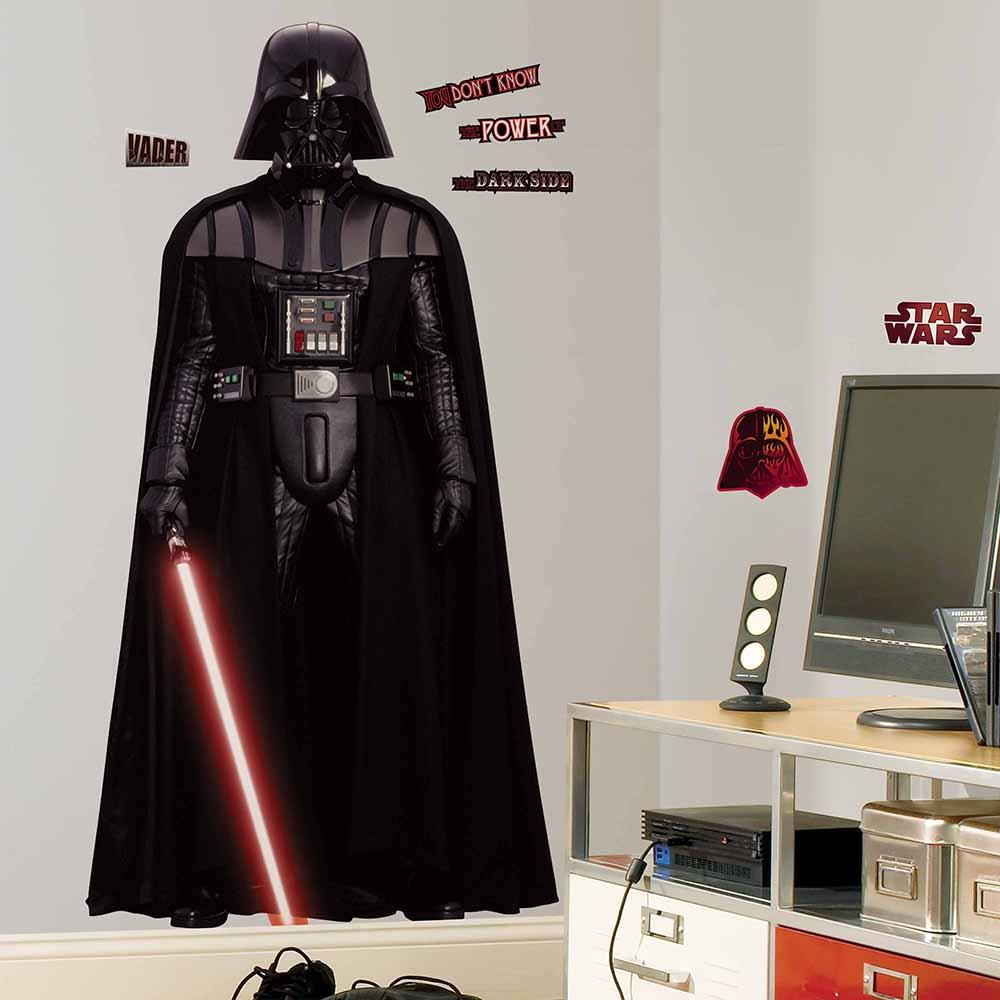 Amazon roommates rmk1589slg star wars classic vader peel and star wars classic star wars wall decals star wars wall stickers star wars featured image star wars vader giant wall decal amipublicfo Gallery