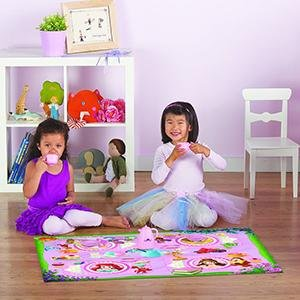 Amazon Com Disney Frozen Hopscotch Toys Rug Anna Olaf