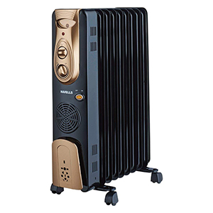 Image result for Havells OFR - 9Fin 2500-Watt PTC Fan Heater (Black)