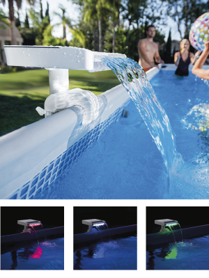 Intex 28090 - Cascada agua con luces LED multicolor: Amazon.es: Jardín