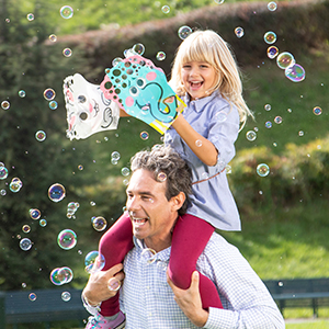 kids bubbles, bubble gun for toddlers, outdoor game, bubble solution refill, kids bubble machine