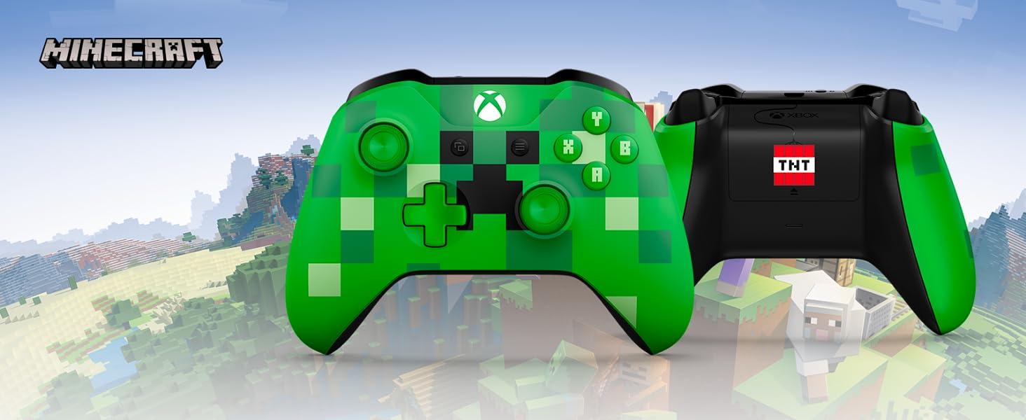 657b156b35ba9 Microsoft - Mando Inalámbrico  Edición Limitada Minecraft Creeper ...