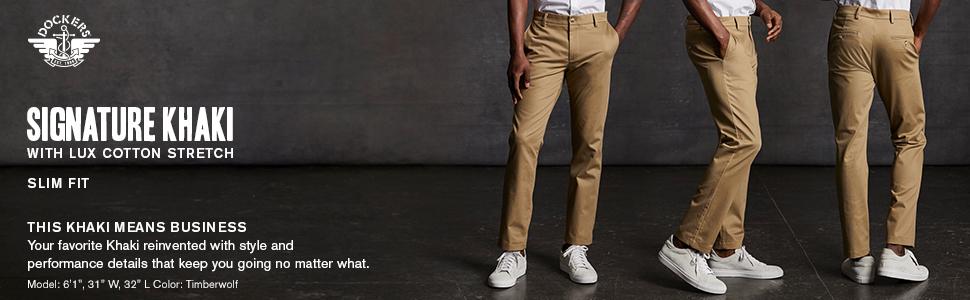 Signature Khaki with Lux Cotton Stretch Slim Fit