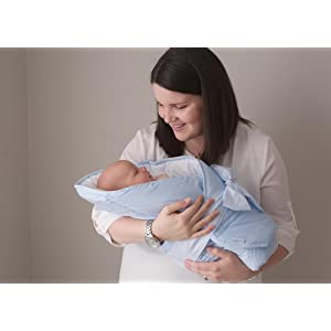 Amazon Com Bundlebee Baby Wrap Swaddle Blanket Feather Light Grey
