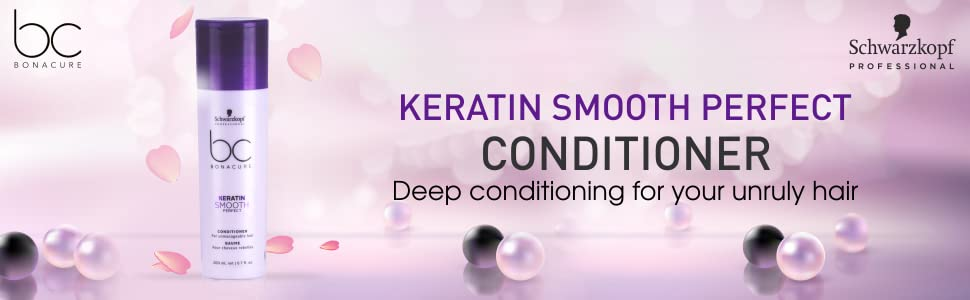 Schwarzkopf Professional Bc Keratin Smooth Perfect Conditioner, Purple, 200 ml