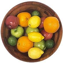 Fruit wood bowl, serivng fruit bowl, serving fruit storage, storage for fruit, clean counter top