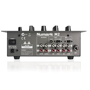 2-Kanal Tabletop DJ Mixer mit Crossfader-Style Cueing Eingänge: 2 umschaltbare Phono/Line (Cinch)
