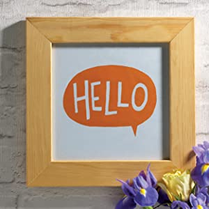 hello, print, words, greeting, wall art, decoration, printing, colourful, linoprint, lino