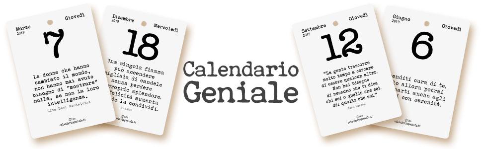 Calendario Giornaliero Con Frasi.Calendario Geniale 2019 Leggi La Frase Del Giorno