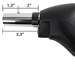 central, vacuum, hose, handle, dimension