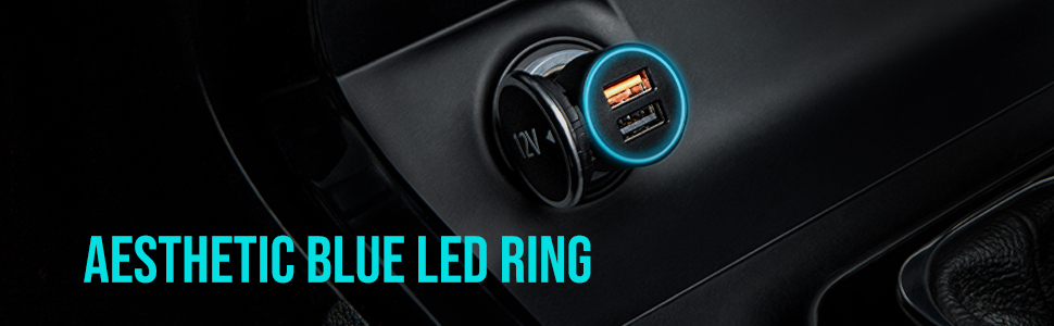 Blue LED ring
