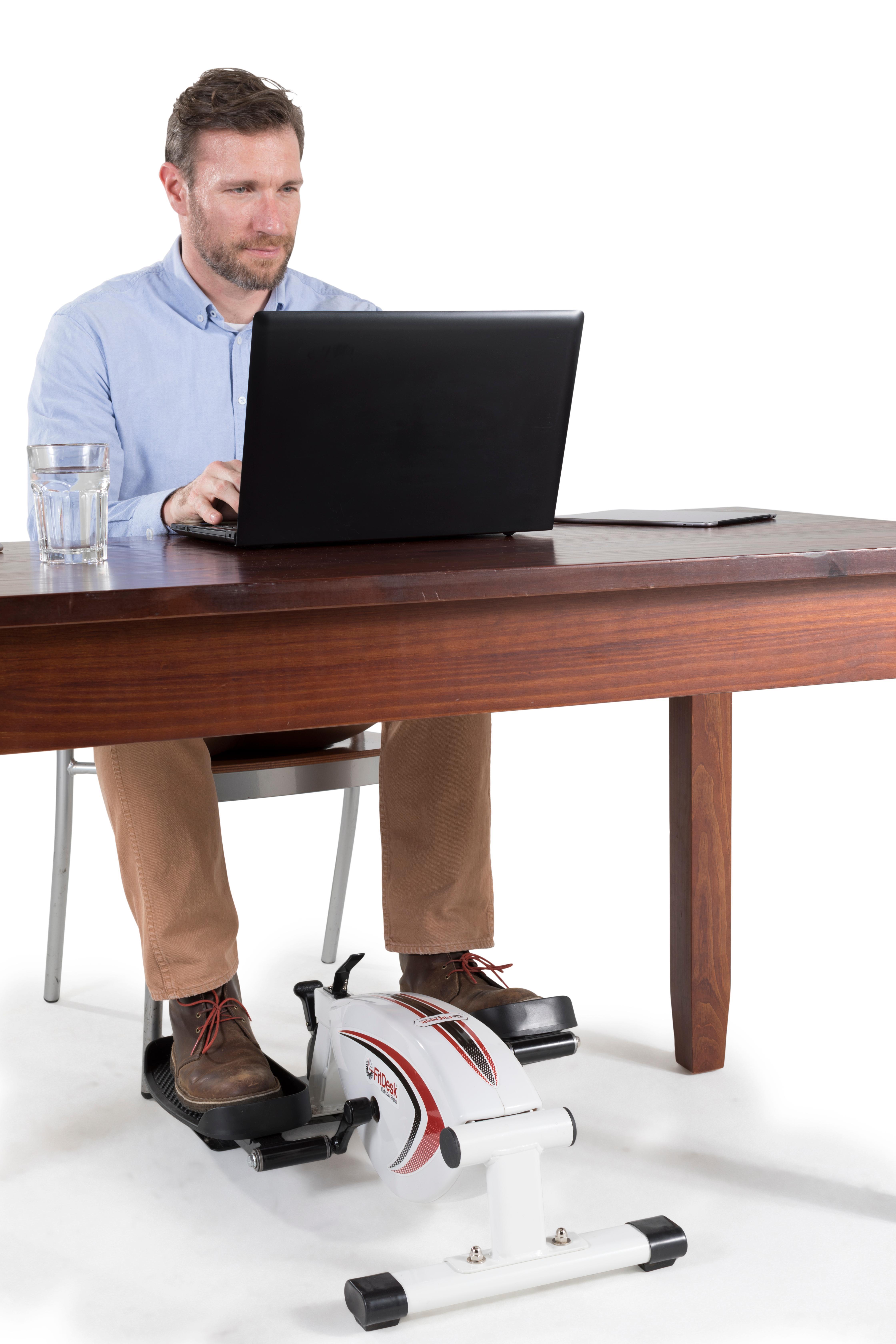 fitdesk under desk elliptical manual