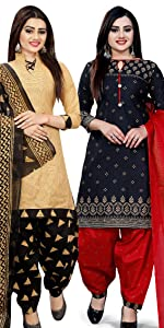 Rajnandini Women's Cotton Printed Unstitched Dress Material