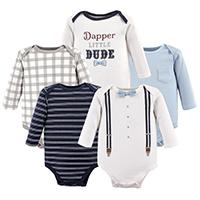 d35a0a6b7d06 Amazon.com: Little Treasure Baby Boys' Cotton Bodysuits: Clothing