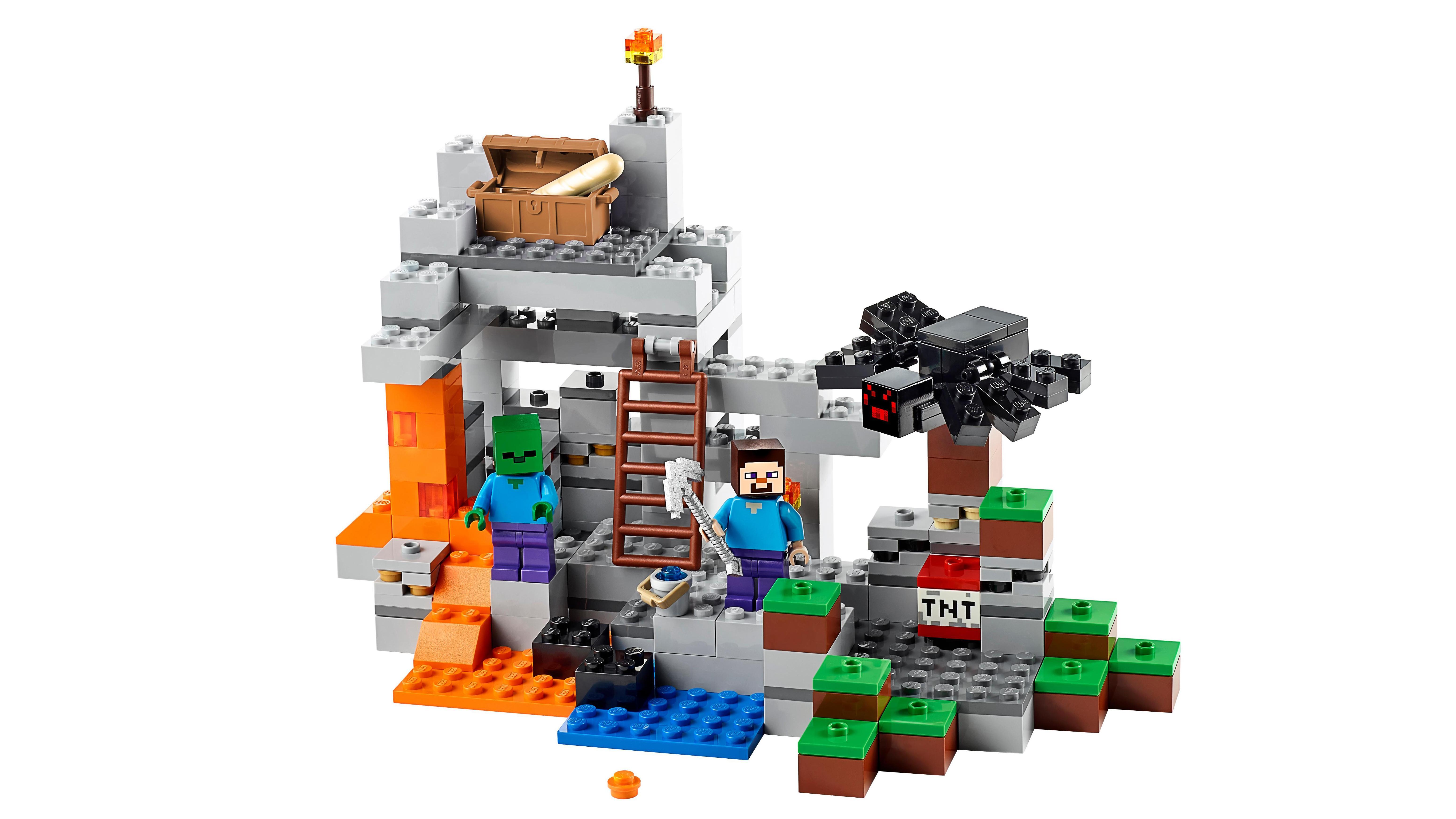 Amazon.com: LEGO Minecraft The Cave 21113: Toys & Games