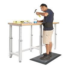 standing stand up comfort ergonomic office desk kitchen mat pad rug airlift seville classics