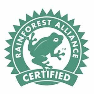 Sustainably Sourced and Rainforest Alliance Certified Seal