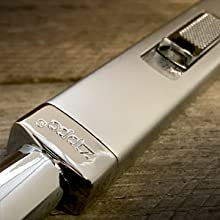 rugged metal construction, chrome candle lighter, zippo, zippo brushed chrome candle lighter, zippo
