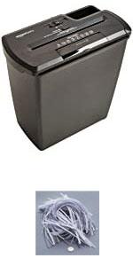 AmazonBasics 8-Sheet Strip-Cut Paper Shredder
