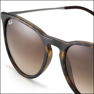 a42fb7cd044a67 Amazon.com  Ray-Ban Women s Erika Round, Black, 54mm  Ray-Ban  Clothing