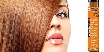brazilian, keratin, smoothing, repair, hair, treatment, oil, organic, natural, world