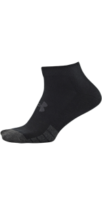 Performance Tech lo cut, new under armour, black socks, white socks, breathable socks, arch support