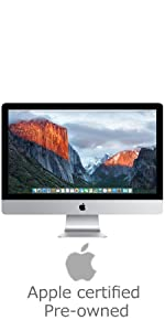 apple iMac; MF866LL/A; 27-inch; retina; 5k; desktop; certified pre-owned; certified refurbished