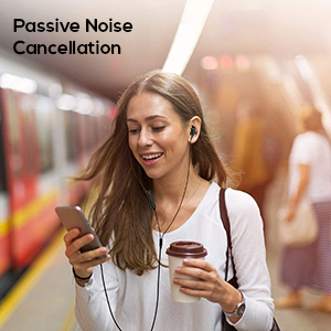 noise cancelling wired earphones