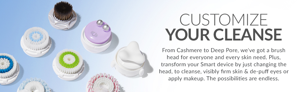 clarisonic sonic facial cleansing brush head replacement acne oily dry skin foot exfoliation