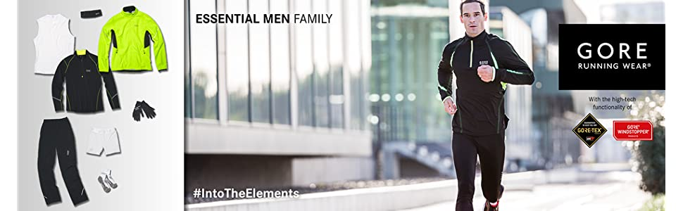 TESETH ESSENTIAL Thermo Tights GORE RUNNING WEAR Herren Enganliegende Thermo-Laufhose GORE Selected Fabrics