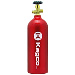 Kegco B5-RED Empty 5 lb. Aluminum CO2 Tank with Electric Red Epoxy Finish