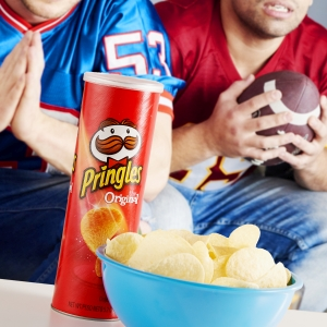 A gameday essential for soccer, football or basketball fans cheering from the stands or couch