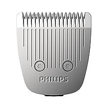 Philips BT5509/16 Serie 5000 Regolabarba con Lame in Metallo, Utilizzo con e senza Filo, 2 Pettini e Rifinitore di Precisione