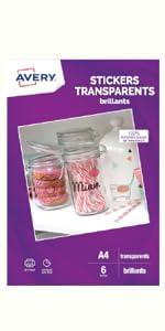 Stickers transparents