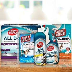 pet mess cleaner, urine cleaner, dog diaper, dog pads, pet mess, pet odor, pet cleaning, dog messes