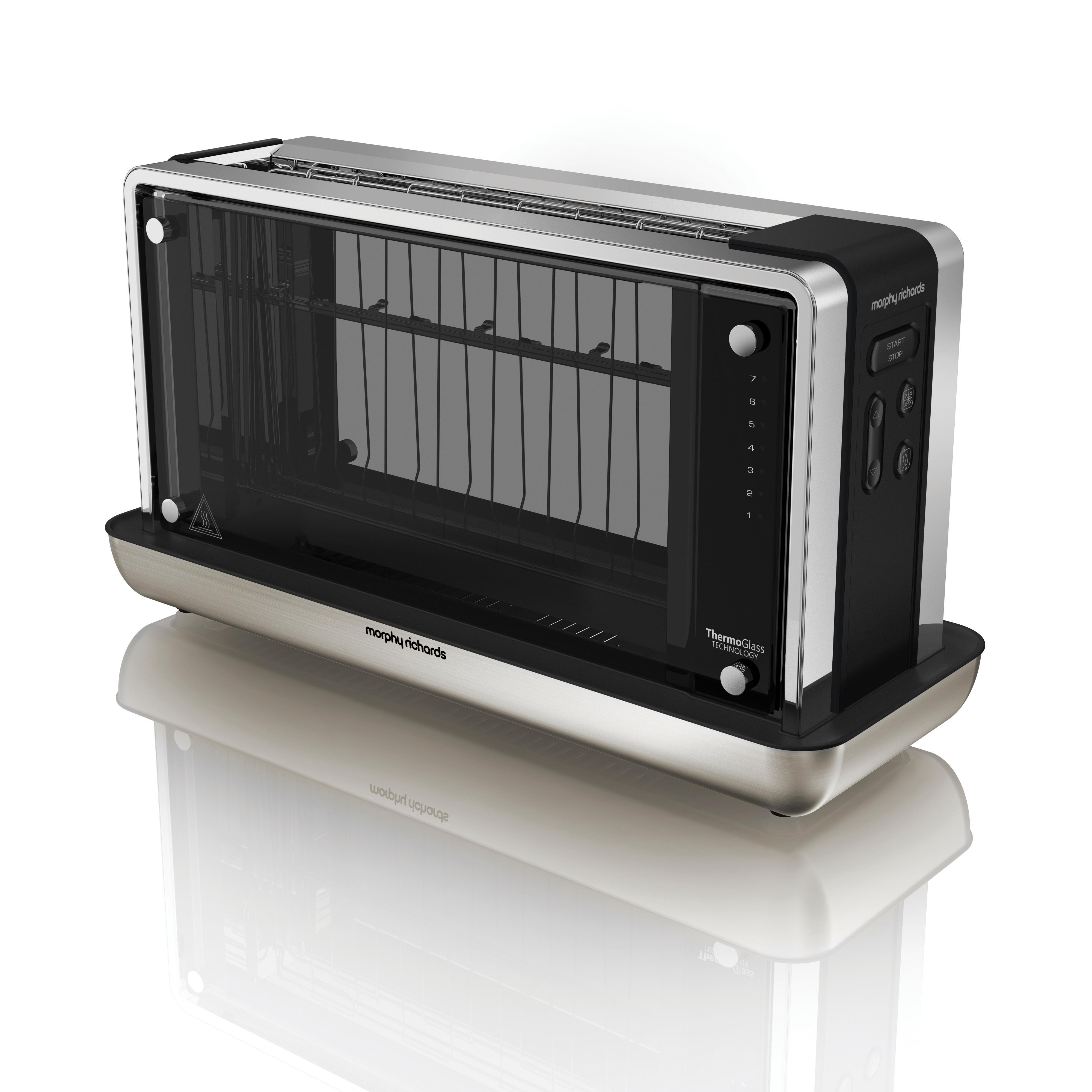 morphy richards 228000ee glas toaster transparent. Black Bedroom Furniture Sets. Home Design Ideas