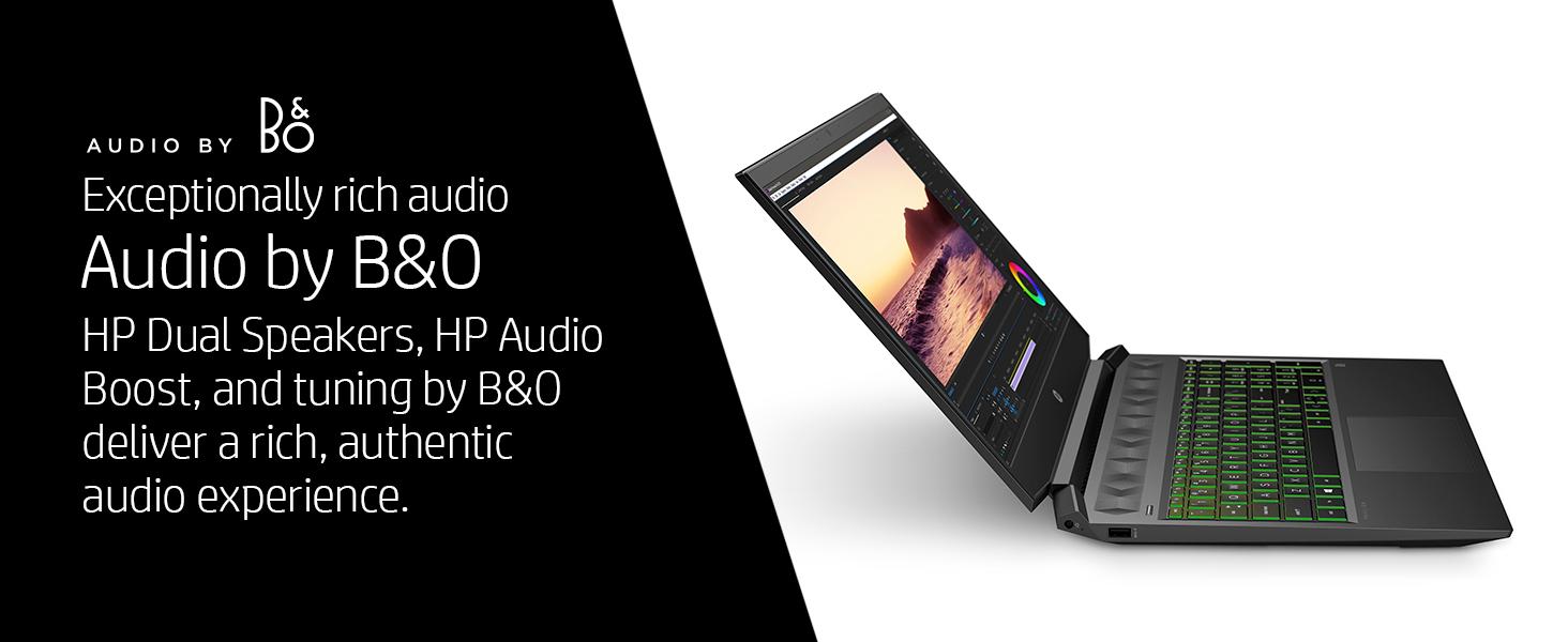 HP dual speakers audio boost by B&O volume crisp rich sound music