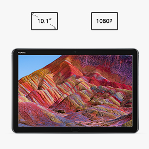 features a brilliant 10.1-inch 1080P display so you will not miss a thing  HUAWEI ClariVu technology