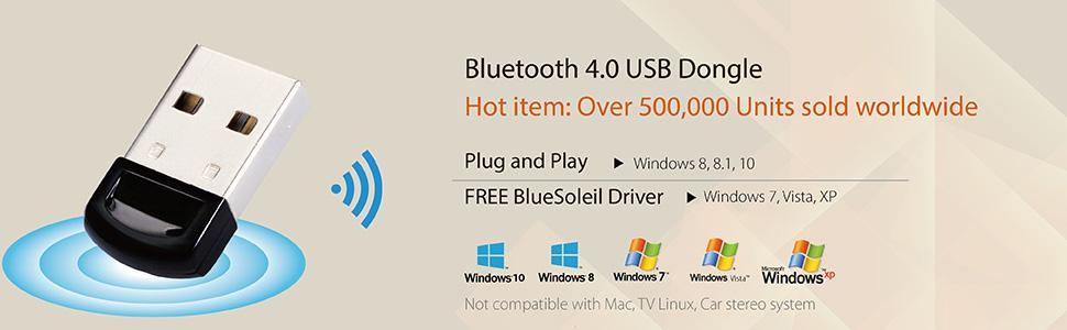 Details about AvanTree Bluetooth v4 0 USB Dongle Adapter Wireless Receiver  PC Windows A2DP New