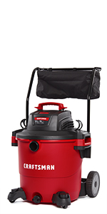 craftsman 20 gallon wet dry shop vacuum with cart and attachments