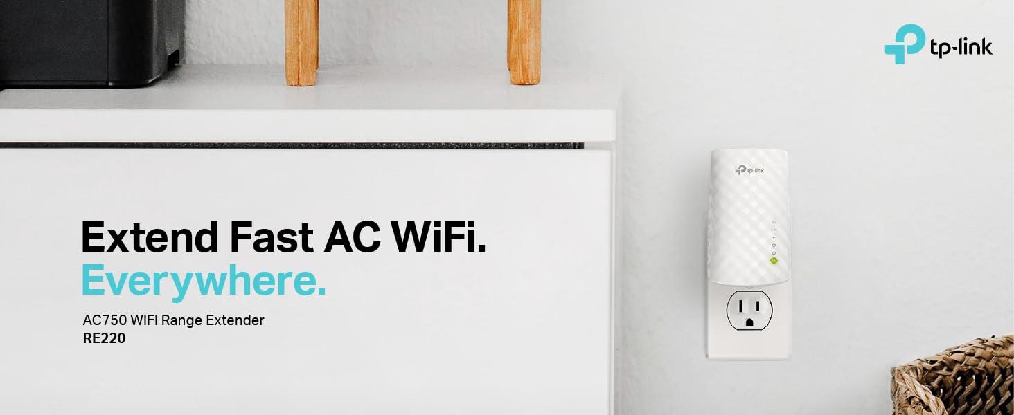 WiFI Range Extender - TP-Link AC750 RE220