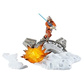 Star Wars Black Series Luke Skywalker Statue Centerpiece - Action Packed Display of a Classic Scene - Light Up Feature - 3 AAA Batteries Not Included ...