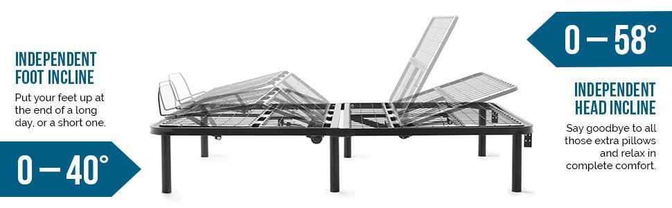 Amazon Com Lucid L100 Adjustable Bed Base Steel Frame 5