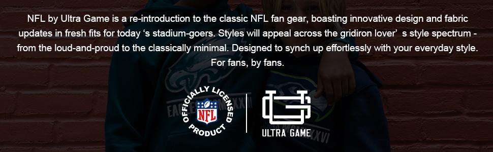 NFL Boy's Super-Soft Hoodie Pullover Henley Sweatshirt stay-dry fabric fresh, comfortable, Fleece