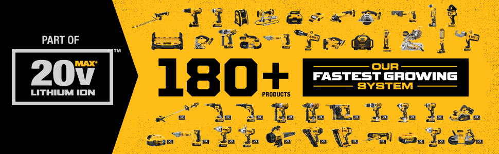 20v MAX dewalt, lithium ion power tools, dewalt system