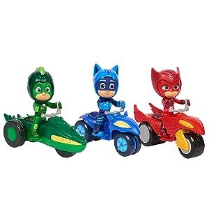pj masks super moon rovers, catboy, gekko, owlette
